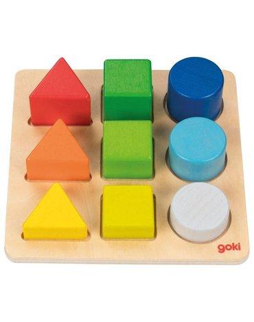 Goki® - Układanka figury na podstawie