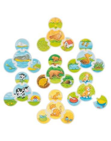 Goki® - Puzzle edukacyjne zwierzątka