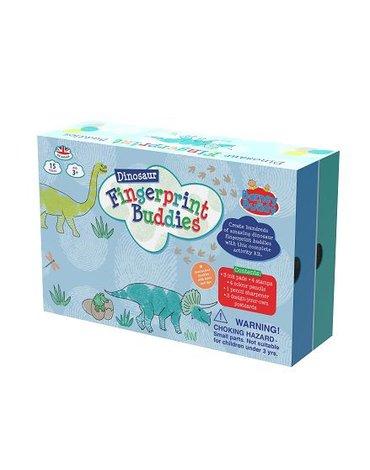 Buddy  & Barney - Pieczątki i tusze do malowania palcami dinozaur