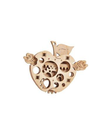 Wood Trick - Puzzle mechaniczne jabłko z robaczkiem