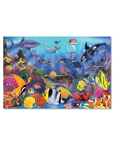 Melissa&Doug® - Puzzle podłogowe podwodny świat 48el.