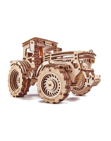 Wood Trick - Traktor do składania - puzzle mechaniczne 3D