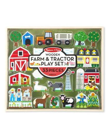 Melissa&Doug® - Drewniana Farma do układania - duży zestaw