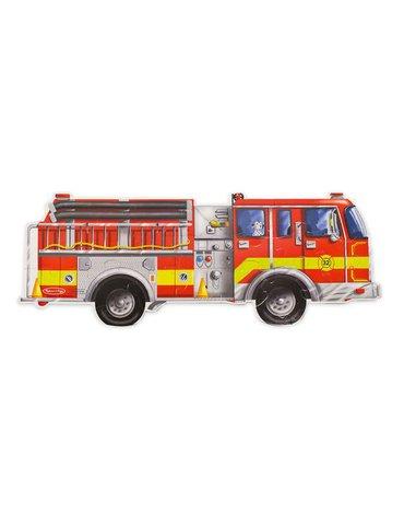 Melissa&Doug® - Podłogowe puzzle – wóz strażacki – ogromne elementy