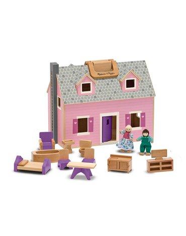 Melissa&Doug® - Domek dla lalek drewniany składany Melissa&Doug
