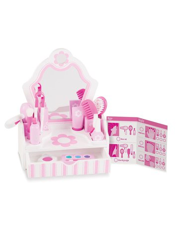 Melissa&Doug® - Domowy salon piękności - toaletka z lustrem