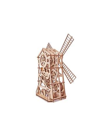 Wood Trick – Drewniane mechaniczne puzzle 3D - Wiatrak