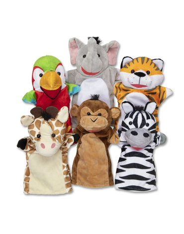 Melissa&Doug® - Pacynki na rękę safari - duży zestaw