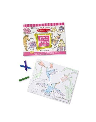 Melissa&Doug® - Duża kolorowanka dla dziewczynki – 50 arkuszy