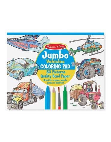 Melissa&Doug® - Duża kolorowanka dla chłopca Pojazdy – 50 arkuszy