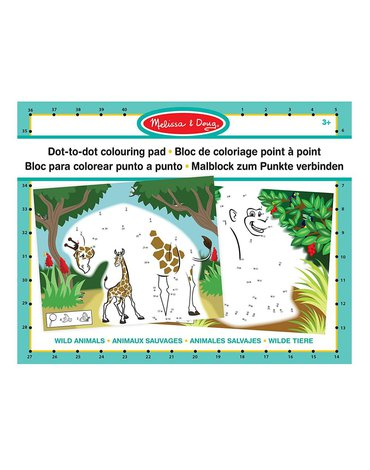 Melissa&Doug® - Połącz kropki i pokoloruj - duży format