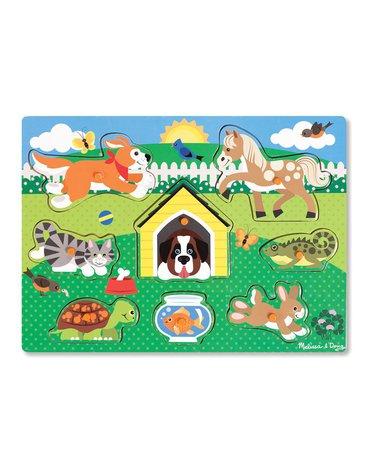 Melissa&Doug® - Drewniana układanka – Zwierzęta domowe