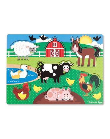 Melissa&Doug® - Drewniane puzzle – układanka – Farma