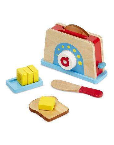 Melissa&Doug® - Drewniany zestaw śniadaniowy z tosterem