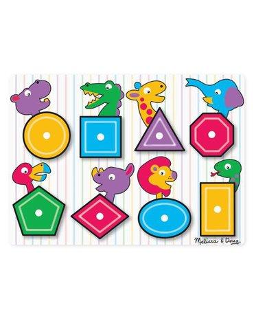 Melissa&Doug® - Drewniane puzzle – kształty i kolory