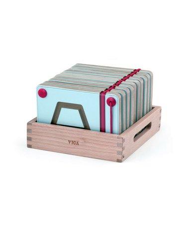 Viga - Magnetyczne kształty do nauki pisania - 10 sztuk