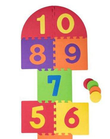 Plastica - Duże piankowe puzzle do gry w klasy