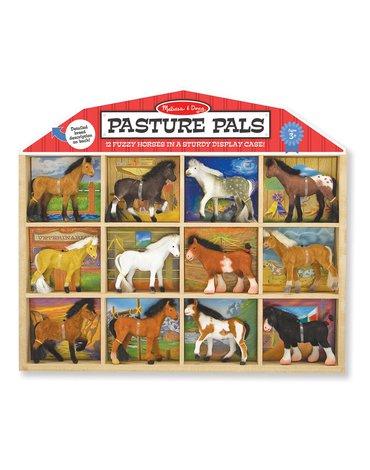 Melissa&Doug® - Figurki koni rasowych – Zestaw 12 sztuk