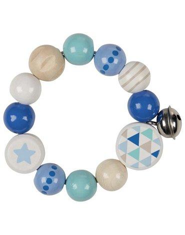 Heimess - Grzechotka pierścień elastyczny niebieska gwiazdka