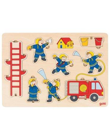 Goki® - Puzzle przestrzenne Strażacy