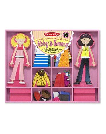 Melissa&Doug® - Układanka magnetyczna – Drewniane laleczki do ubierania