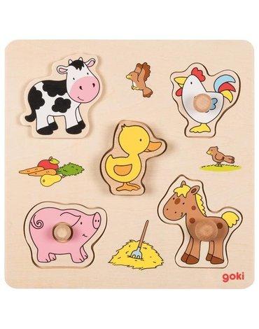 Goki® - Puzzle zwierzątka Farma