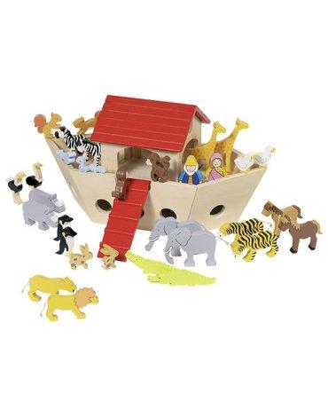 Goki® - Drewniana Arka Noego ze zwierzętami