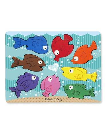 Melissa&Doug® - Układanka puzzle 3D– Kolorowe rybki