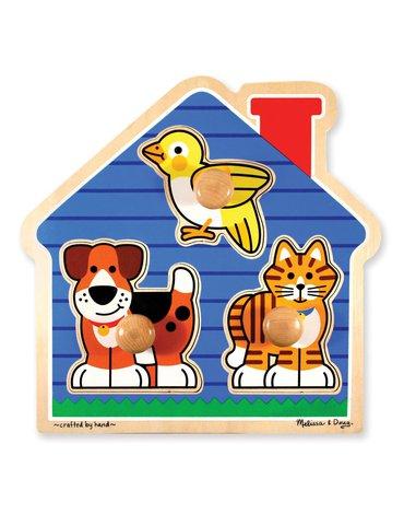 Melissa&Doug® - Puzzle z uchwytami duże– Domowi przyjaciele