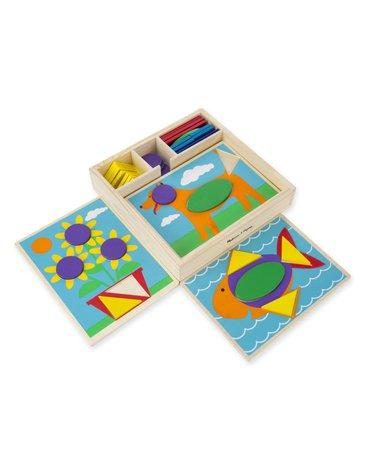 Melissa&Doug® - Drewniana układanka – Mozaika – kolory i kształty