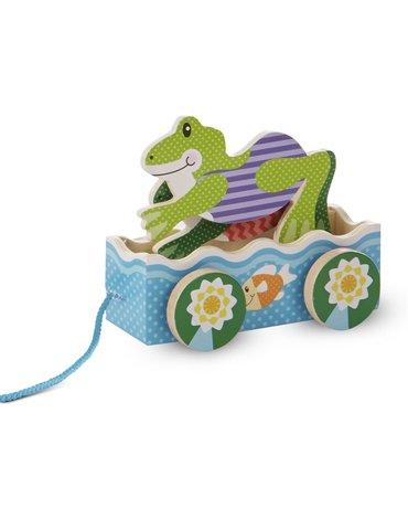 Melissa&Doug® - Zabawka do ciągnięcia – Żabie wyścigi