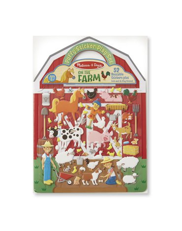 Melissa&Doug® - Wypukłe wielorazowe naklejki – Farma