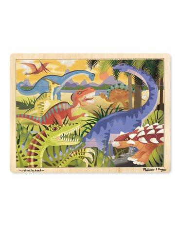 Melissa&Doug® - Duże drewniane puzzle – Dinozaury - 24 el.