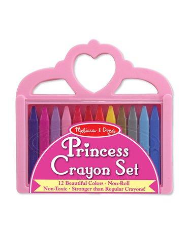 Melissa&Doug® - Zestaw kredek świecowych  – 12 kolorów - korona