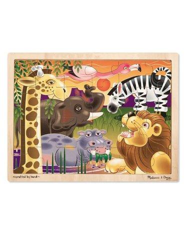Melissa&Doug® - Duże drewniane puzzle – Afryka - 24 el.