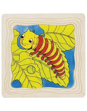 Goki® - Puzzle warstwowe gąsienica