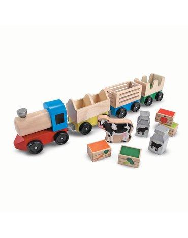 Melissa&Doug® - Pociąg duży, towarowy z farmy
