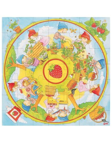 Goki® - Puzzle sadzenie truskawek