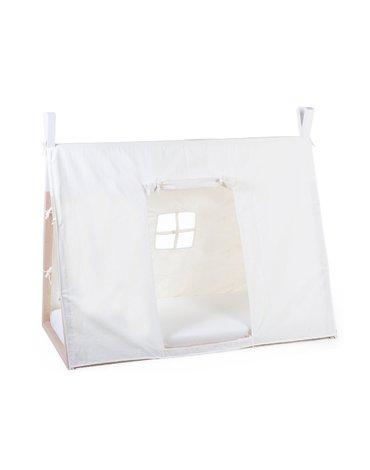 Childhome Poszycie do łóżka Tipi 70 x 140 cm White