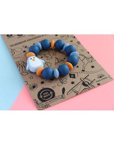 Mimijo - Gryzak z niebieskim pingwinkiem