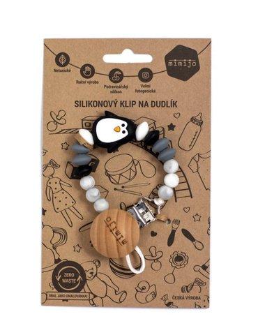 Mimijo - Zawieszka do smoczka pingwin czarny