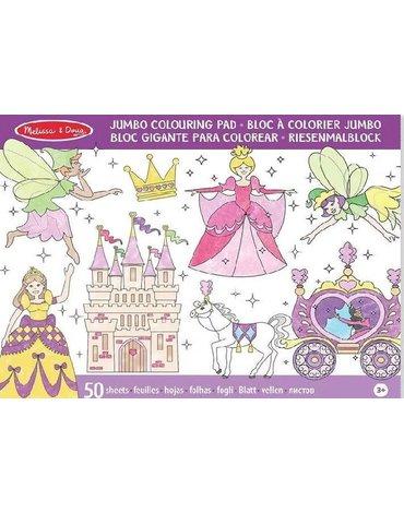 Melissa&Doug® - Kolorowanka dla dziewczynki Wróżki i Księżniczki - 50 arkuszy