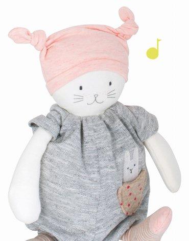 Moulin Roty - Maskotka Kot z pozytywk 28 cm LES PETITS DODOS