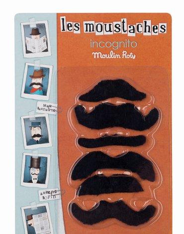 Moulin Roty - Zestaw wąsów Incognito 711227