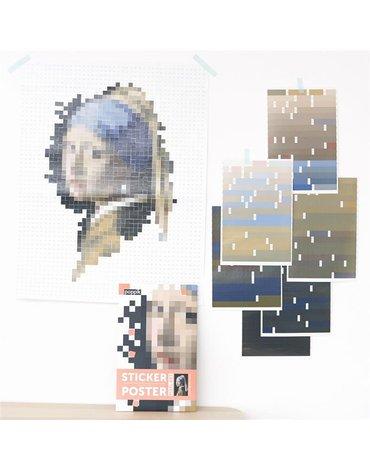 POPPIK - Wyklejanka pikselowa VERMEER (Dziewczyna Z Perłą)