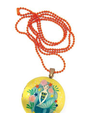 Djeco - Kolorowy naszyjnik - medalion SYRENKA DD03840