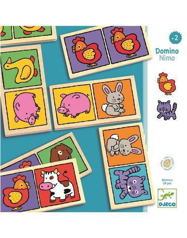 Djeco - Drewniane Domino NIMO DJ01638