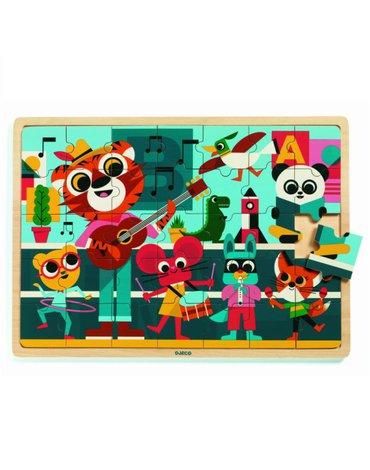 Djeco - Edukacyjne puzzle drewniane MUZYKANCI DJ01817