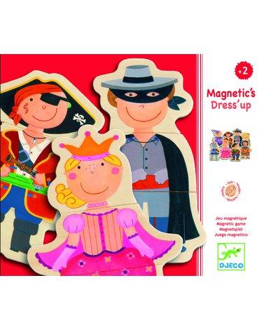 Djeco - Puzzle drewniane magnetyczne Przebieranki DJ03112
