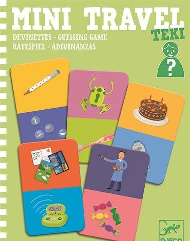 Djeco - Mini gra podróżna zgadywanki TEKI DJ05373